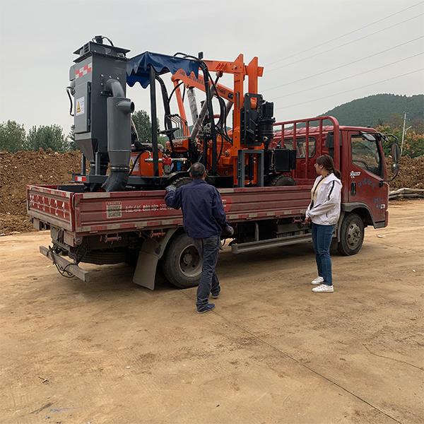 云南昆明360高风压钻孔机+除尘器发车案例